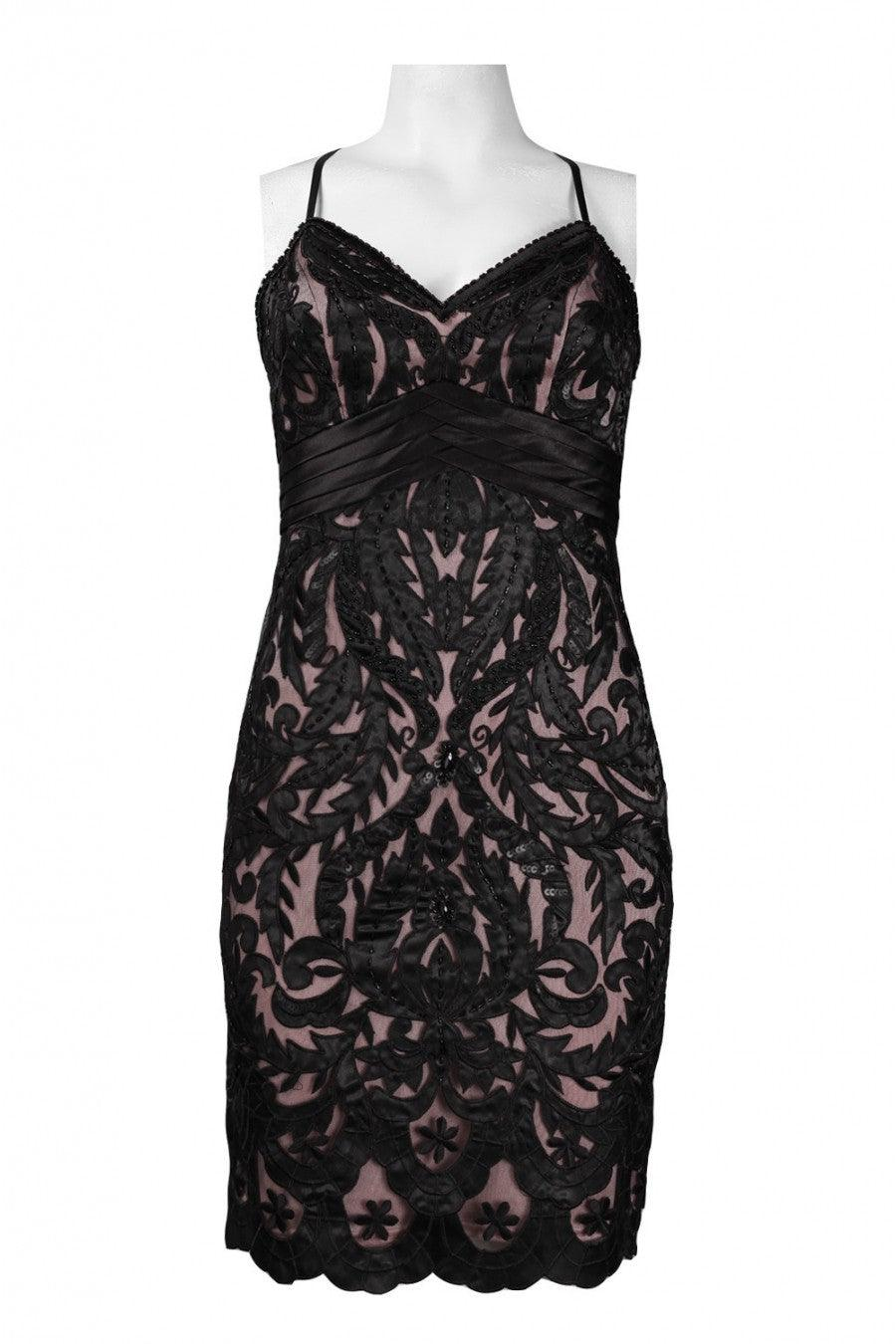 Sue Wong Short Dress Cocktail Formal - The Dress Outlet Black Rose Sue Wong