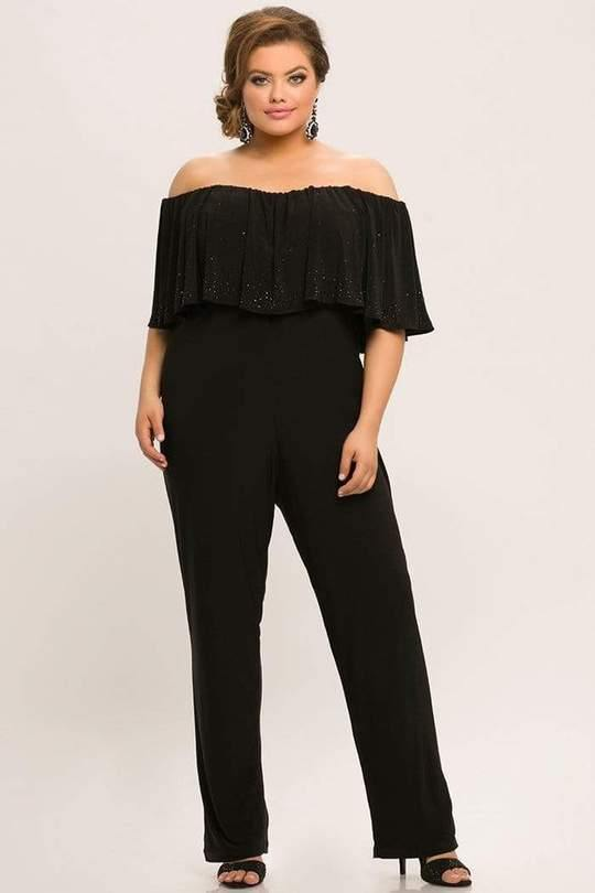 Sydneys Closet Formal Off Shoulder Jumpsuit