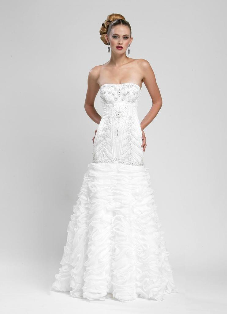 Sue Wong Long Wedding Gown Formal Dress - The Dress Outlet Sue Wong