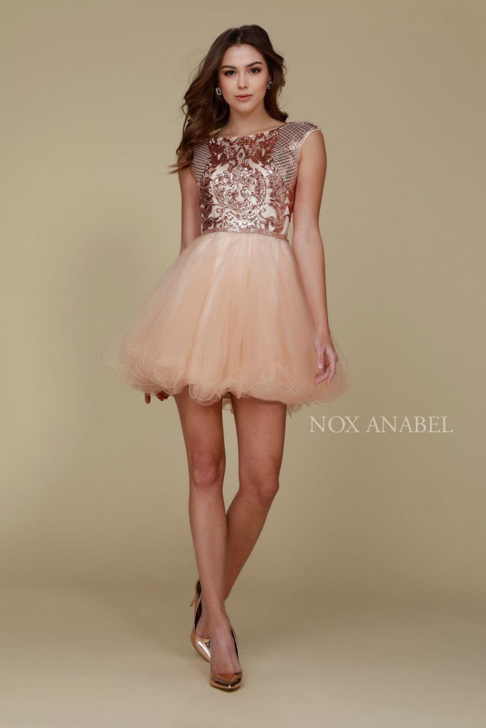 Short Prom Homecoming Dress - The Dress Outlet Nox Anabel