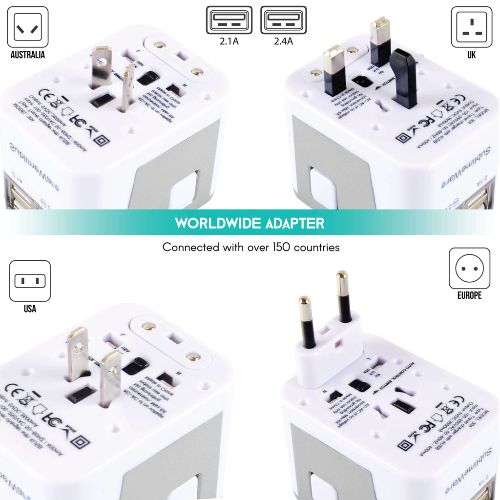 Travel adapter for France