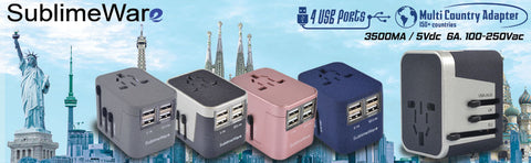Travel adapters or power convertors