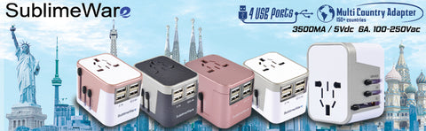 Multi-country travel adapter