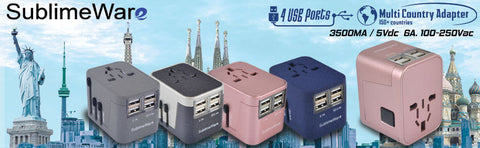 Sublimeware travel adapters
