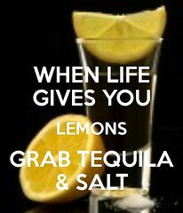 Tequila and salt