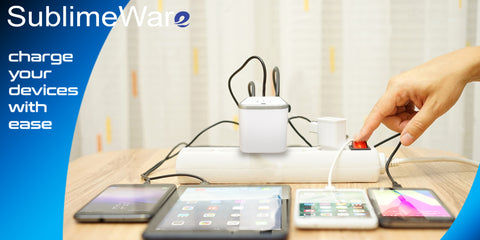 Using a travel adapter to charge multiple devices
