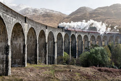 Glenfinnan Viaduct used in Harry Potter movies
