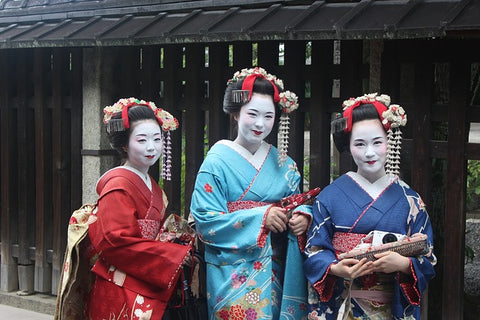 Geisha girls in Japan