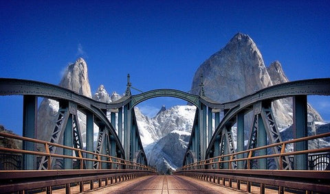 Argentina bridge and mountains