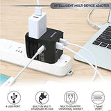 5 USB Ports Power Plug Adapter (SandBlack)