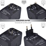 5 USB Ports Power Plug Adapter (Sandblack Silver)