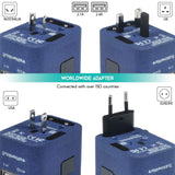 4 USB Ports Power Plug Adapter (SandBlue)