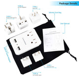 2000 W White Travel Adapter Kit