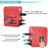 4 USB Ports Power Plug Adapter (SandRed)