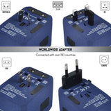 5 USB Ports Power Plug Adapter (SandBlue)