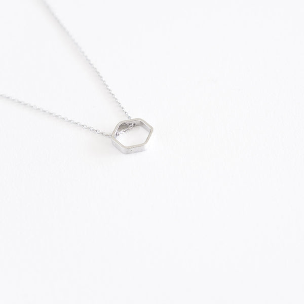 Hexagon Bezel Necklace - TYPENU Co - 4
