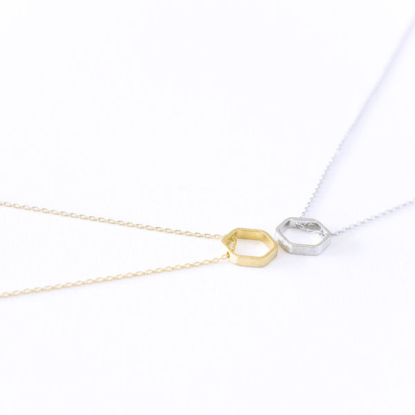 Hexagon Bezel Necklace - TYPENU Co - 1