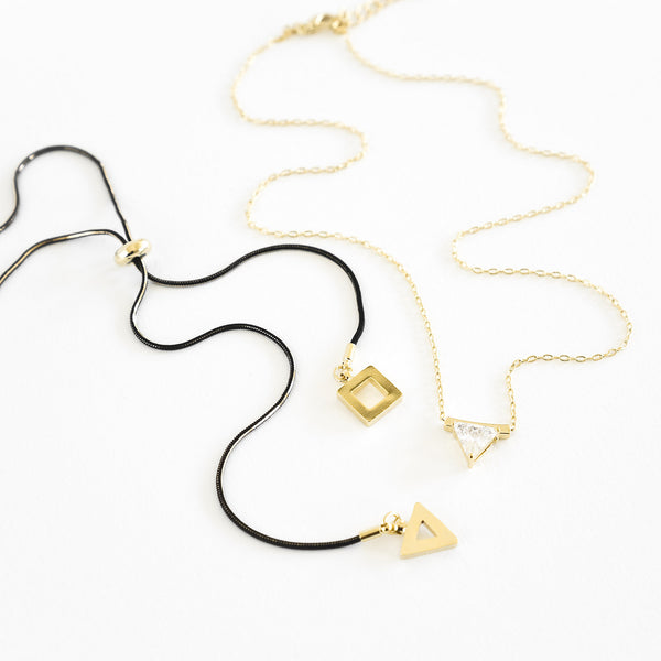 Evening Geo Layering Necklace Set - TYPENU Co - 1