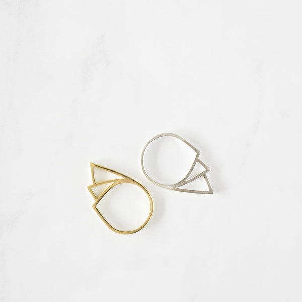 Geometric Tear Drop Ring - TYPENU Co - 3