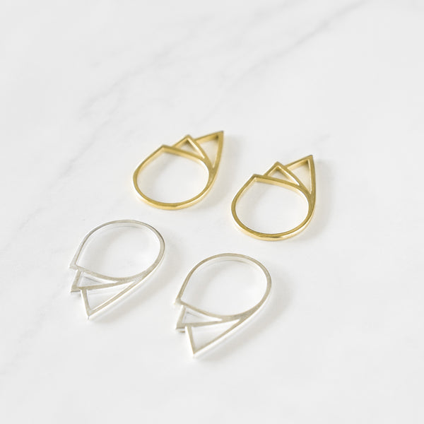 Geometric Tear Drop Ring - TYPENU Co - 5