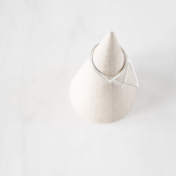 Geometric Tear Drop Ring - TYPENU Co - 4