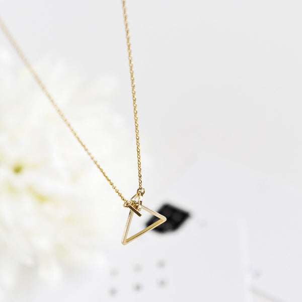 Trinity Triangle Necklace - TYPENU Co - 4