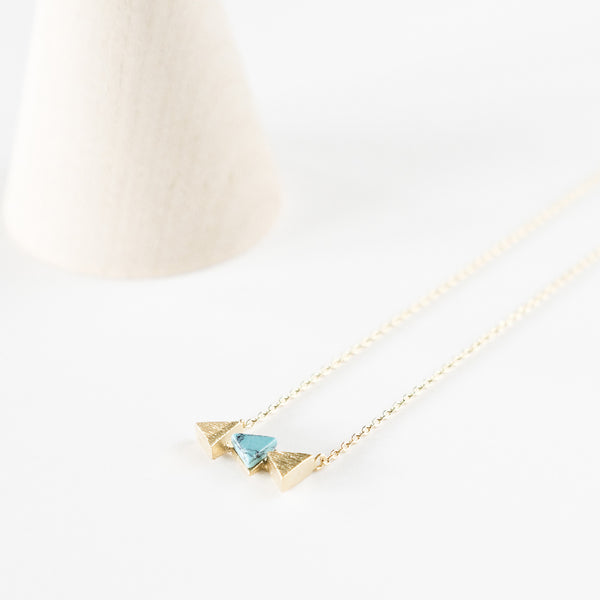 Turquoise Stone Arrowhead Necklace TYPENU Co