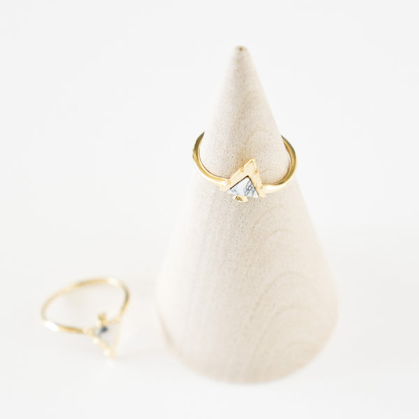 White Marble Arrow Head Ring - TYPENU Co - 1