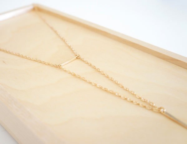 Double Bar Necklace - TYPENU Co - 4