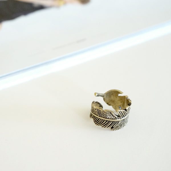 Bronze Feather Ring - TYPENU Co - 1