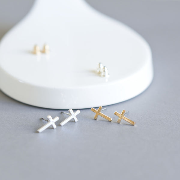 Cross Stud Earrings - TYPENU Co - 1
