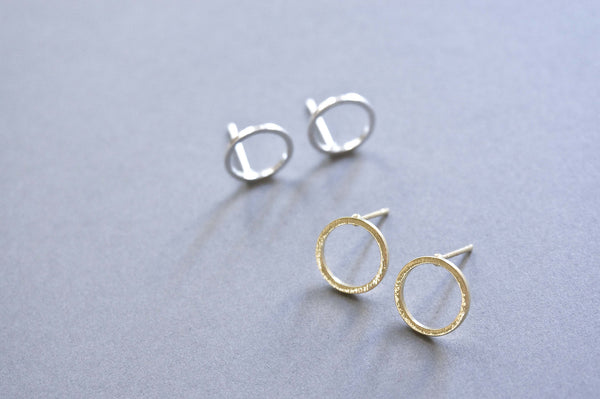 Minimal Circle Stud Earrings - TYPENU Co - 1