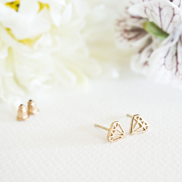 Diamond Stud Earrings - TYPENU Co - 1