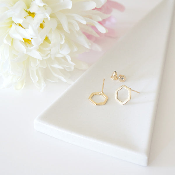 Hexagon Stud Earrings - TYPENU Co - 1