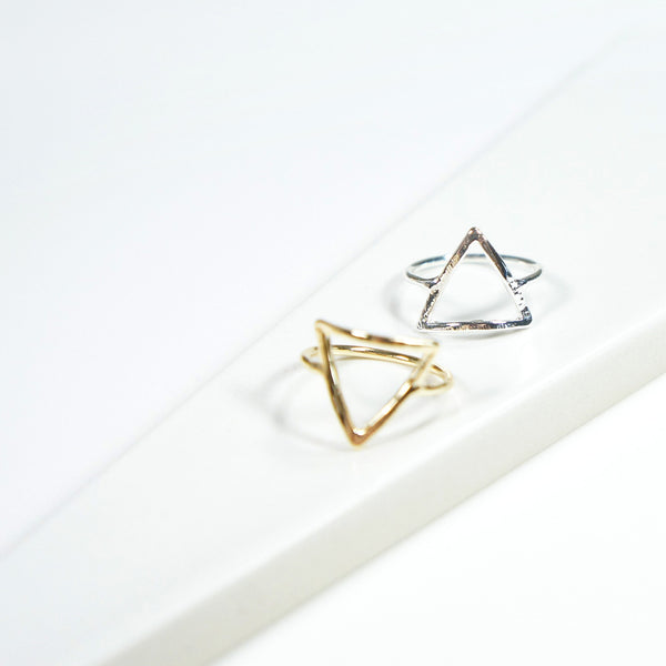 Hollow Triangle Ring - TYPENU Co - 1