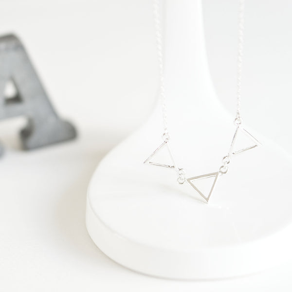 Triple Triangle Necklace - TYPENU Co - 2