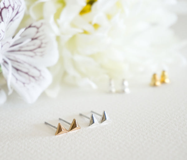 Stacking Triangle Stud Earrings - TYPENU Co - 1
