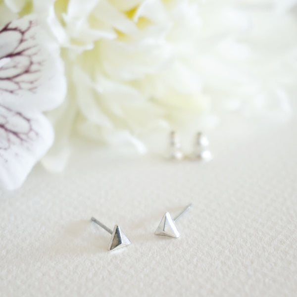 Stacking Triangle Stud Earrings - TYPENU Co - 4