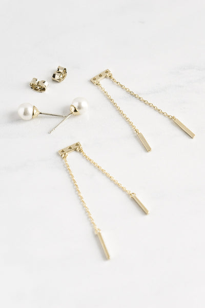 Pearl Chandelier Ear Jacket Earrings - TYPENU Co - 2