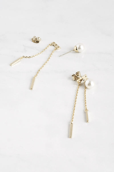 Pearl Chandelier Ear Jacket Earrings - TYPENU Co - 1