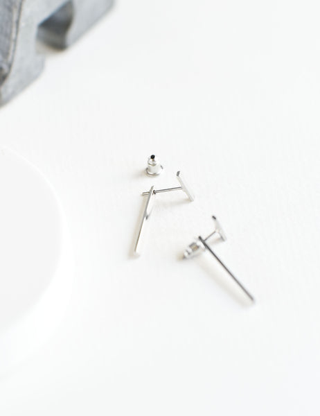 Minimal Bars Ear Jacket Earrings - TYPENU Co - 1