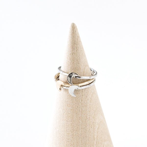 Tiny Crescent Moon Ring - TYPENU Co - 1