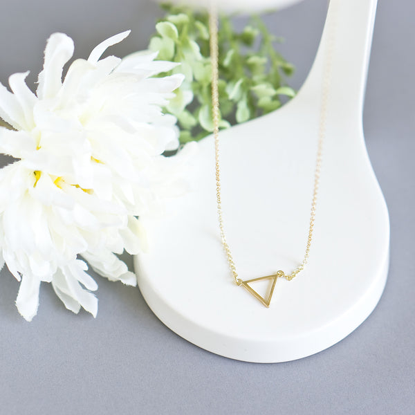 Tiny Minimalist Triangle Necklace - TYPENU Co - 1