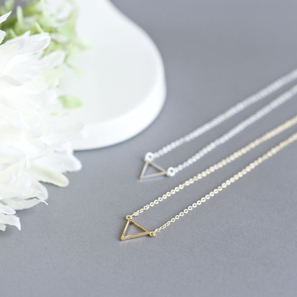 Tiny Minimalist Triangle Necklace - TYPENU Co - 2