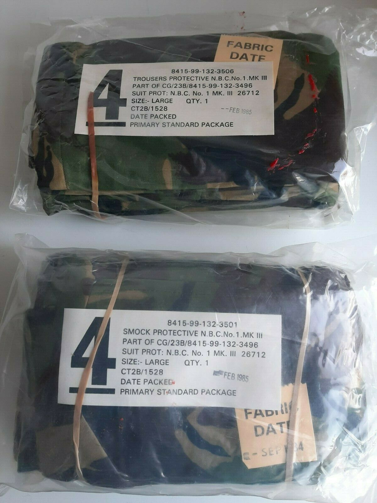 NSN  8415 99 132 3506 TROUSERS PROTECTIVE NBC OLIVE NO1 MK3