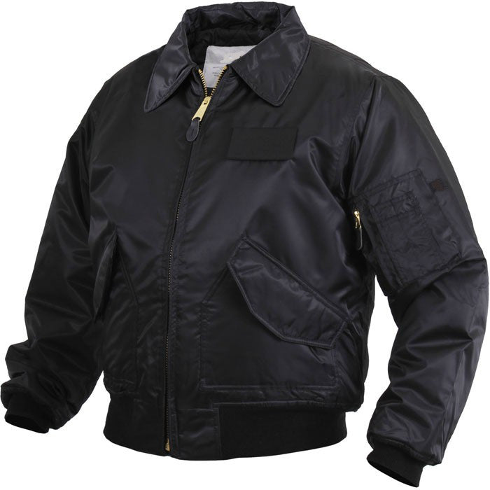 Nylon CWU-45 (MA2) Flight Jacket in Black or Olive Green