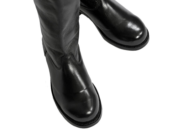 Top Quality German WW2 Pattern Leather Wehrmacht Officers Boots