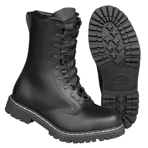High Quality German Pattern Leather Paratroopers Boots