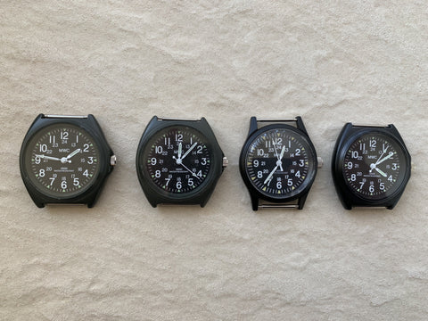 4 x MWC Classic 1960s/70s Pattern Black Vietnam Watches (New but need batteries)