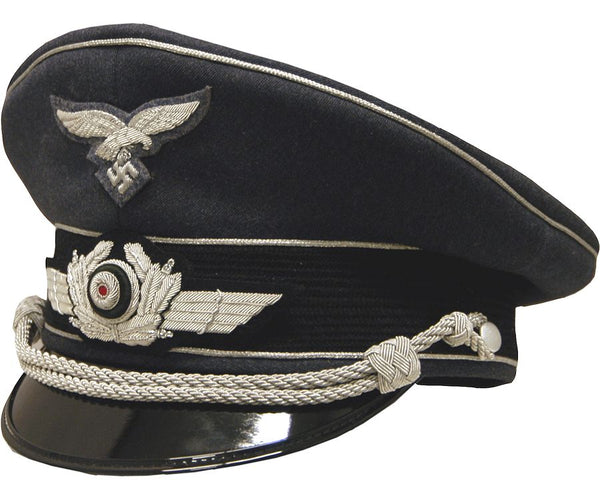 High Quality Reproduction WW2 Luftwaffe Officers Visor Cap